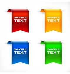 Color labels stickers text vector image