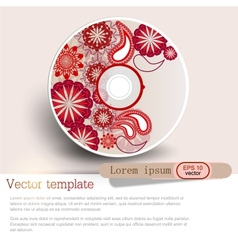 Cover design template of disk Pattern vector image
