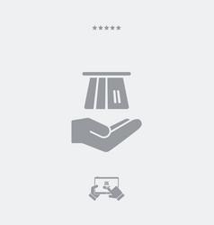 credit card - minimal flat icon vector image