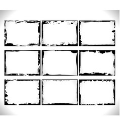 design horizontal black blank grunge frame vector image