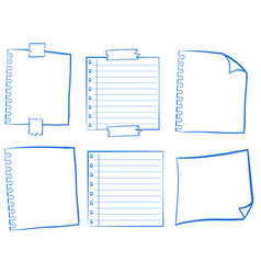 doodle design for blank papers vector image