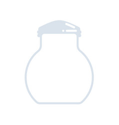 empty jar for cookies isolated oatmeal cookie in vector image
