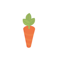 farm carrot harvest agriculture isometric icon vector image