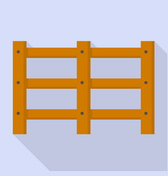 farm wood barrier icon flat style vector image