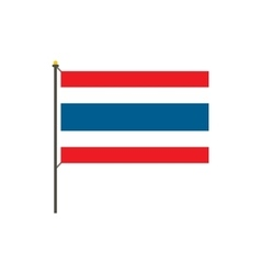 Flag of Thailand icon flat style vector image