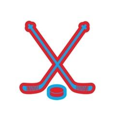 Flat icon on white background hockey sticks vector