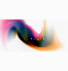 Fluid flowing wave abstract background vector