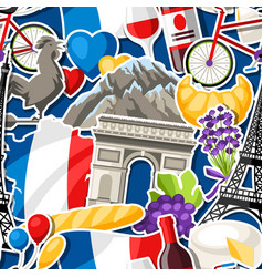 France seamless pattern vector