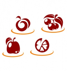 Fruit symbols vector