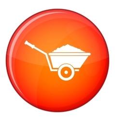 Garden wheelbarrow icon flat style vector image vector image