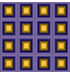 Geometric background with purple yellow squares vector image