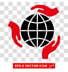 Global Protection Hands Eps Icon vector