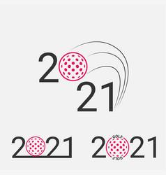 golf sign 2021 set golf logo for a golf event vector image