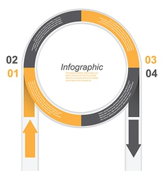 Infographic in a circle shape vector image