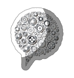 Isolated gears and bubble design vector