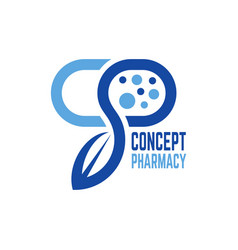 Modern concept pharmacy logo vector