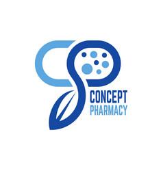 modern concept pharmacy logo vector image