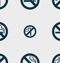 No smoking icon sign Seamless pattern with vector