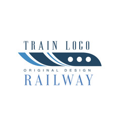 railway train logo original design modern vector image