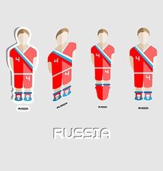 Russia Soccer Team Sportswear Template vector image