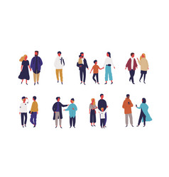 set different people - couple family and vector image
