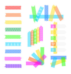 Set sweet sticky tapes vector