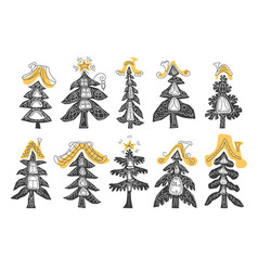 set tree vector image