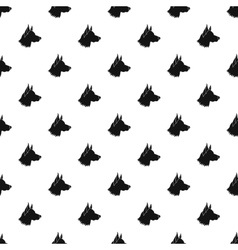 Shepherd dog pattern simple style vector