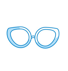 Silhouette glasses to use in the eyes vector