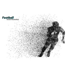 silhouette of a football player from particle vector image