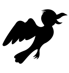 Silhouette Of Bird vector image
