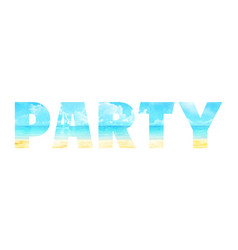 summer party in the double exposure vector image
