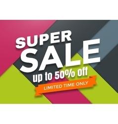 Super sale banner design vector