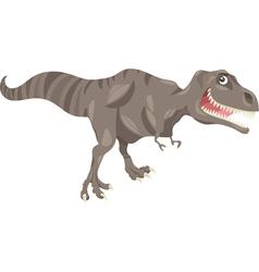 tyrannosaurus dinosaur cartoon vector image