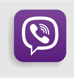 Viber logo icon vector