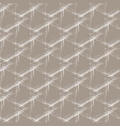White grunge grid on a beige background vector