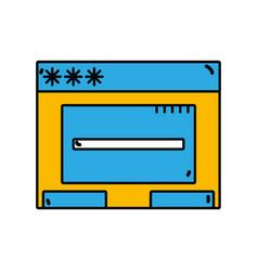 Window web technology element design vector
