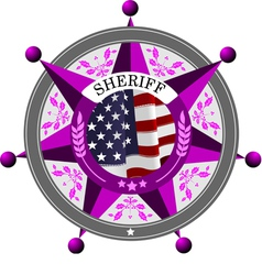 6205 sherifs badge vector image