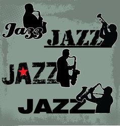 Jazz Music headline vector image vector image