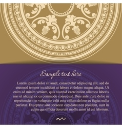 Round oriental ornament card in vintage style vector image