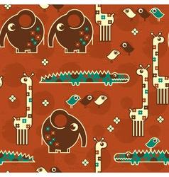 safari seamless pattern vector image vector image