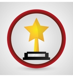 Star trophy cinema and movie design vector