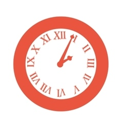 time clock numbers romans vector image vector image