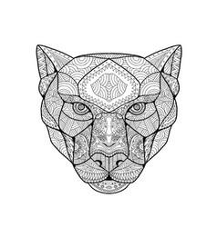 black panther zentagle vector image vector image