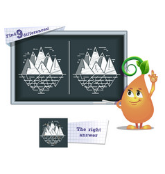 game find 9 differences iceberg vector image vector image