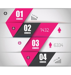 Infographics concept to display your data vector image vector image