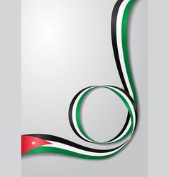 jordanian flag wavy background vector image vector image