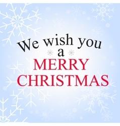 merry christmas greetin vector image vector image