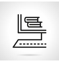Online bookstore black line design icon vector image