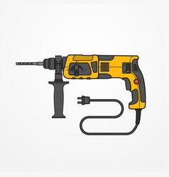 rotary hammer image vector image